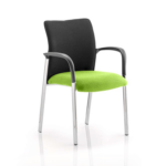 Academy Visitor Chair In Multicolor With Arms Myrrh Green