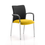 Academy Visitor Chair In Multicolor With Arms Senna Yellow