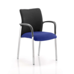 Academy Visitor Chair In Multicolor With Arms Stevia Blue