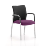 Academy Visitor Chair In Multicolor With Arms Tansy Purple
