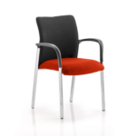 Academy Visitor Chair In Multicolor With Arms Tobasco Red