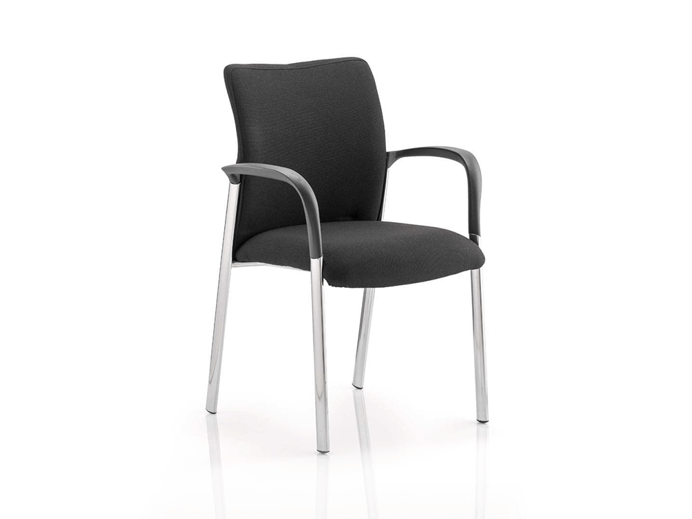 Academy Visitor Chair In Multicolor With Arms Black