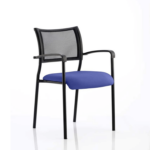 Dale – Mesh Back Visitor Chair Black With Arms Blue