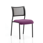 Dale – Mesh Back Visitor Chair Black Withoutarms Purple