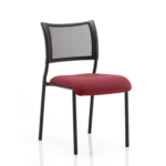 Dale – Mesh Back Visitor Chair Black Withoutarms Chilli