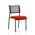 Dale – Mesh Back Visitor Chair Black Withoutarms Red