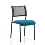 Dale – Mesh Back Visitor Chair Black Withoutarms Teal