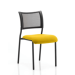 Dale – Mesh Back Visitor Chair Black Withoutarms Yellow
