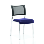 Dale – Mesh Back Visitor Chair Chrome Withoutarms Blue