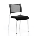 Dale – Mesh Back Visitor Chair Chrome Withoutarms Black