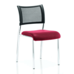 Dale – Mesh Back Visitor Chair Chrome Withoutarms Cherry