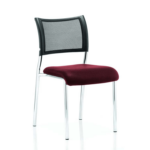 Dale – Mesh Back Visitor Chair Chrome Withoutarms Chilli