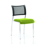 Dale – Mesh Back Visitor Chair Chrome Withoutarms Green