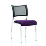 Dale – Mesh Back Visitor Chair Chrome Withoutarms Purple