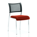 Dale – Mesh Back Visitor Chair Chrome Withoutarms Red