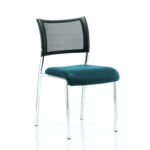 Dale – Mesh Back Visitor Chair Chrome Withoutarms Teal