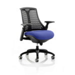 Flex Bespoke Colour Seat In Black Black Blue