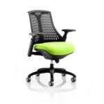 Flex Bespoke Colour Seat In Black Black Green