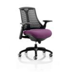 Flex Bespoke Colour Seat In Black Black Purple