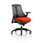Flex Bespoke Colour Seat In Black Black Red