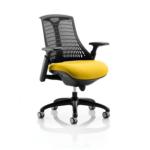 Flex Bespoke Colour Seat In Black Black Yellow