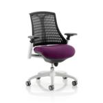 Flex Bespoke Colour Seat In Black White Purple