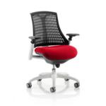 Flex Bespoke Colour Seat In Black White Cherry