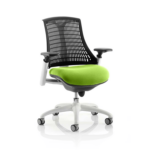 Flex Bespoke Colour Seat In Black White Green