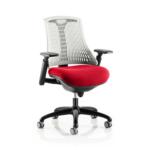 Flex Bespoke Colour Seat In White Black Cherry