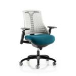 Flex Bespoke Colour Seat In White Black Teal