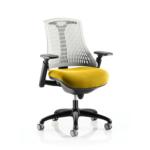 Flex Bespoke Colour Seat In White Black Yellow