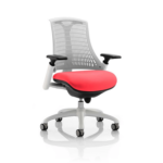 Flex Bespoke Colour Seat In White White Cherry
