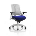 Flex Bespoke Colour Seat In White White Blue