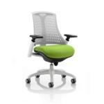 Flex Bespoke Colour Seat In White White Green