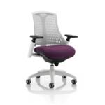 Flex Bespoke Colour Seat In White White Purple