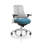 Flex Bespoke Colour Seat In White White Teal
