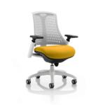 Flex Bespoke Colour Seat In White White Yellow