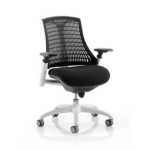 Flex Task Operator Chair In Multicolor Back With Arms Black White