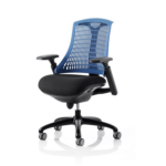 Flex Task Operator Chair In Multicolor Back With Arms Blue Black