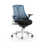 Flex Task Operator Chair In Multicolor Back With Arms Blue White
