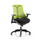 Flex Task Operator Chair In Multicolor Back With Arms Green Black