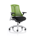 Flex Task Operator Chair In Multicolor Back With Arms Green White