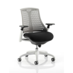 Flex Task Operator Chair In Multicolor Back With Arms Grey White