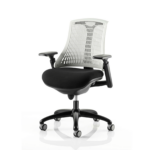 Flex Task Operator Chair In Multicolor Back With Arms White Black