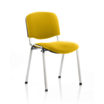Iso Black Frame Bespoke Colour Fabric Yellow Chome