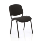 Iso Stacking Chair Black Fabric Black Frame Black Black