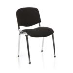 Iso Stacking Chair Black Fabric Black Frame Black Chrome