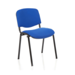 Iso Stacking Chair Black Fabric Black Frame Blue Black