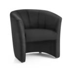Neo Single Tub Black Leather