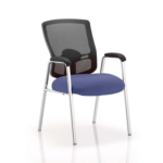 Oregon – Straight Chrome Leg Visitor Chair With Mesh Back Blue